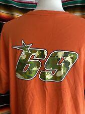 Vintage Nicky Hayden #69 CHASIN' A DREAM Shirt 2XL Orange