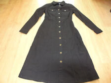 Collar Black Dresses for Women with Buttons