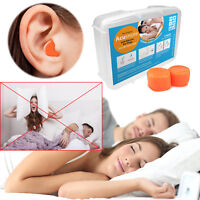 3 Pairs Acusnore Ultra Soft Bed Time Silicone Ear Plugs Comfortable & Moldable