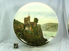 Schöner Wandteller Utzschneider & Cie Sarreguemines  Burg Rheinstein 39 cm