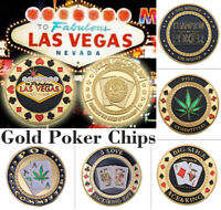 WR Gold Casino Table Game Collectible Coin Chip Poker Card Guard Protects Gift
