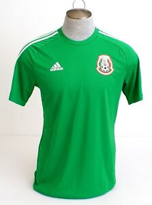 Adidas ClimaLite Green Mexico National Football Team Fan Shirt Men's NWT