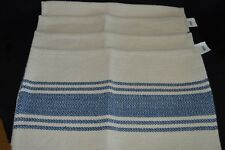 """Set of 4 Blue and Natural 100% Cotton Placemats by Creative Co-op 13"""" X 18"""""""