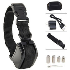 Rechargeable Anti Bark No Barking Tone Shock Training Collar F Small Medium Dog