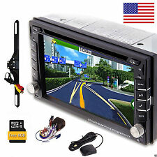 """HD 6.2"""" Double 2Din In Dash Car Stereo DVD Player GPS Navigation BT Radio+CAMERA"""