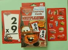 Multiplication Flash Cards Math With Rewards Stickers Disney Pixar Cars!