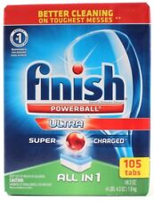 Finish Powerball Ultra Super Charged All In One Dish Washer Tabs 105 Tabs