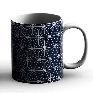 Japanese Traditional Geometric Pattern Design Asanoha Stars - Printed Mug