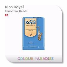 Rico Royal Tenor Saxophone Reed 3 Strength - 10 Pack Box Reeds