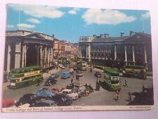 Vintage Postcard Trinity College Bank Of Ireland Dublin