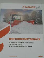 SaMASZ Winterdienstgeräte, Schneepflüge Prospekt von 2019 ( 373 )