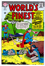 WORLD'S FINEST Comics #157 in FN/VF 1966 DC Silver Age comic  SUPERMAN & BATMAN