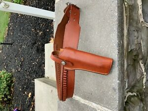 """Bianchi #1 Lawman Holster For Small Single Action w/ belt 32"""" 22 ctg b15"""