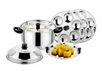 Stainless Steel Induction Gas Top Idli Maker Cooker Dhokla Pot Steamer 24 Idli