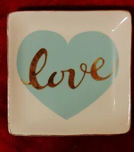 "Amylee Weeks CREAM Jewelry Keepsake Dish BLOOM A Mothers Love Best Mom Ever 4.5"""