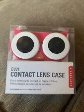 Kikkerland Pink Owl Contact Lens Case BNWT