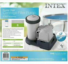 New listing Intex 28633Eg Krystal Clear Cartridge Filter Pump 2500 Gph Fast Shipping