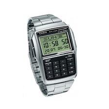 CASIO DBC-32D-1AES Data Bank,Taschenrechner,Uhr silber retro vintage NEU/OVP !!