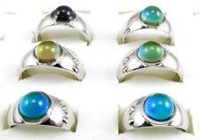 Lot 10pcs Round Beads Color Changable Mood Rings Fashion Jewelry