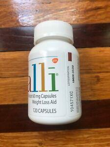 Alli Orlistat OTC Weight Loss Caps,60 mg.120 ct.Factory Sealed,exp.2023 no box