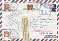 Monaco POSTAGE DUE Sc#J86(x2)#J83 10/4/1989 OFFICIALLY SEALED