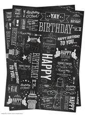 Brainbox Candy tiza papel de envolver envoltorio regalo 2 Láminas Cumpleaños