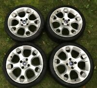 "GENUINE FORD FIESTA MK7 MK8 MK9 ZETEC S ST 17"" SNOWFLAKE ALLOY WHEELS & TIRES"