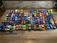 Mixed Lot of 110Hot Wheels Matchbox Loose Diecast & Plastic Cars Trucks Vehicles