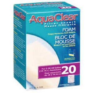 2 Pack - AquaClear 20 Foam Filter Insert Media For 5 - 20 Gallon Aquarium