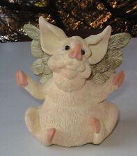 "FLYING PIG FIGURINE CLABAR CREATIONS ""ANGELIC PIGASUS"""