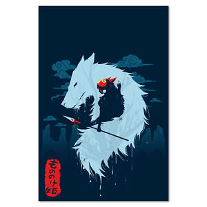 Princess Mononoke Poster - Studio Ghibli Exclusive Design - High Quality Prints