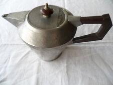 Antique Art Deco vintage English Pewter teapot bakelite handle tea coffee pot