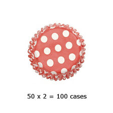 Culpitt 100 x SPOT RED 50mm Standard Cupcake Cup Cake Muffin Baking Cases