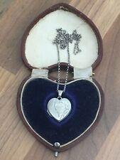 Sterling Silver Engraved Heart Locket Necklace 3.6gr