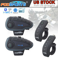 1200M Remote intercom bt Motorcycle Helmet Interphone Bluetooth headset FM US x2