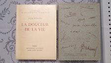 La douceur de la vie, Jules Romains, éd André Sauret, 1951, EN. Heuzé