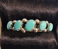 STERLING SILVER 925 TURQUOISE RING by CARMICHAEL WALELA ZUNI NEW MEXICO Size 7