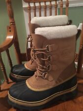 Sorel Men's Caribou Winter Boot Buff Waterproof Warm rated: -40° sz 9 Awesome!