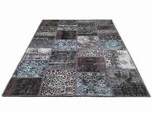 CUSTOM MADE black  vintage Overdyed Rug Handmade Turkish Patchwork Carpet rug