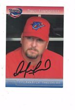 2012 Clearwater Threshers Dave Lundquist Philadelphia Phillies Autograph COA
