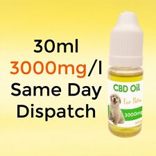 2x 30ml 3000mg/l Hemp Oil for Dogs with extract from Cannabis sativa - UK Stock