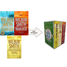 Wilbur Smith Egyptian Novels 3 Books Collection SetGift Wrapped Slipcase NewPack