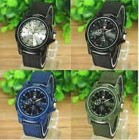 Mens Watches Quartz Stainless Steel Analog Sports New Wrist Watch Army