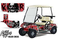 Club Car Golf Cart Wrap Graphics Vinyl Sticker Decal Kit 1983-2014 CIRCUS RED