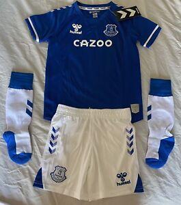 Hummel Everton Kids Unisex Soccer Uniform Set Jersey/shorts/socks Kids Size 5-6Y