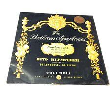 KLEMPERER Beethoven symphonies 1 & 8 Vinyl LP G/VG SAX 2318 1958 Mono 1st Ed.