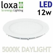 Loxa LED 12W Recessed Lighting Panel Ceiling Light Ultraslim Round Downlight
