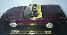 MAISTO 1:18 AUTO IN METALLO CORVETTE LT- 4 CONVERTIBLE 1996 VIOLA  ART 31830