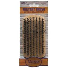 Annie Hard Military Brush Light Brown 50% Hard Boar and Nylon Bristles #2062