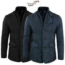 Giubbotto Uomo Invernale Slim Fit Giacca Elegante Blu Nero Giubbino Sartoriale L